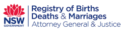 NSW Registyr of Births, Deaths and Marriages